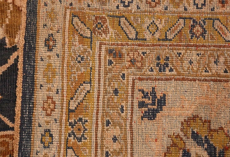 Antique large scale design Sultanabad carpet by Ziegler, country of origin: Persia, circa 1900. Size: 13 ft x 17 ft 7 in (3.96 m x 5.36 m)  Ziegler Sultanabad carpets are some of the most captivating carpets in the world. They also hold a special