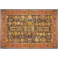 Antique Persian Sultanabad Carpet, in Mansion Size, with Jewel Tones, circa 1890