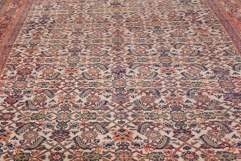 Antique Persian Sultanabad Carpet For Sale 4
