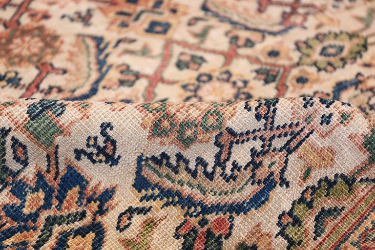 Hand-Knotted Antique Persian Sultanabad Carpet For Sale