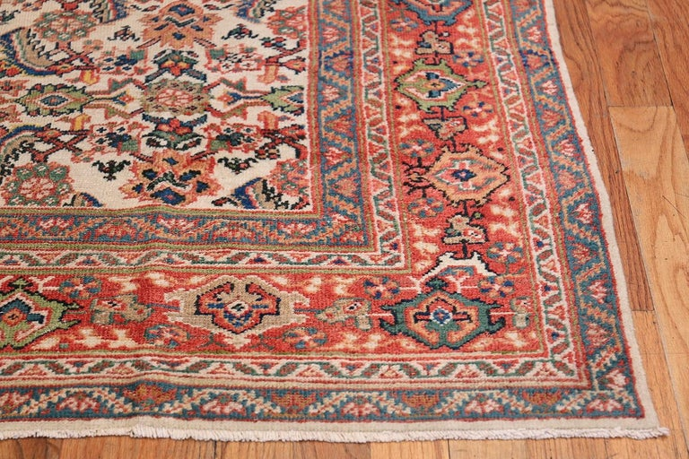 Wool Antique Persian Sultanabad Carpet For Sale
