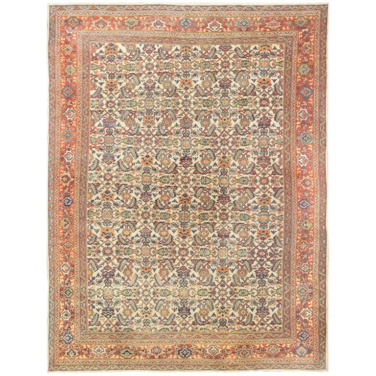 Antique Persian Sultanabad Carpet For Sale