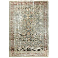Antique Persian Sultanabad Distressed Rug