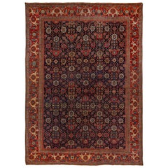 Antique Persian Sultanabad Large Carpet, circa 1900s, Beautiful Colors