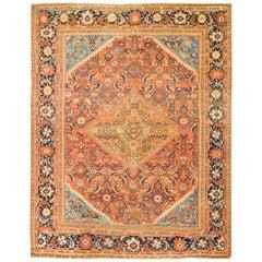 Antique Persian Sultanabad Rug Carpet, circa 1900  9' x 11'