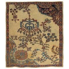 Antique Persian Sultanabad Rug, circa 1900, 3'5 x 4'