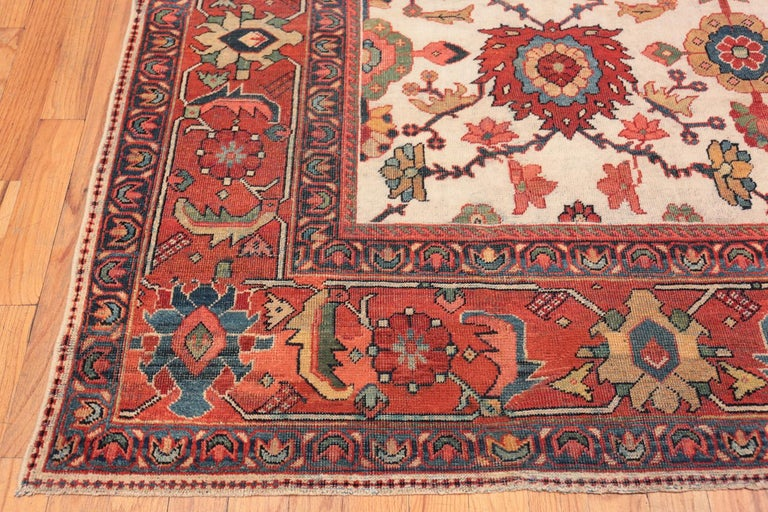Hand-Knotted Antique Persian Sultanabad Rug For Sale