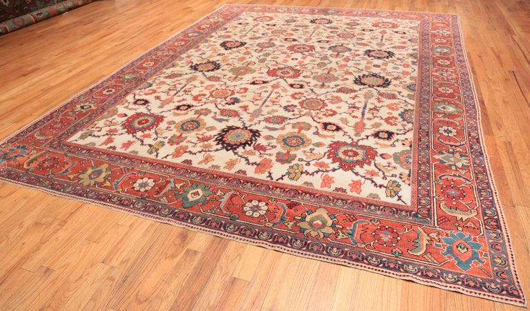 Early 20th Century Antique Persian Sultanabad Rug For Sale