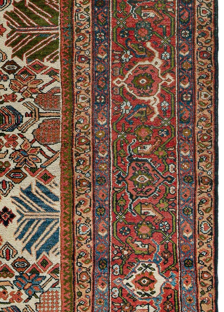 20th Century Antique Persian Sultanabad Rug 'Size Adjusted' Beige, Blue, Green, Orange, Red For Sale