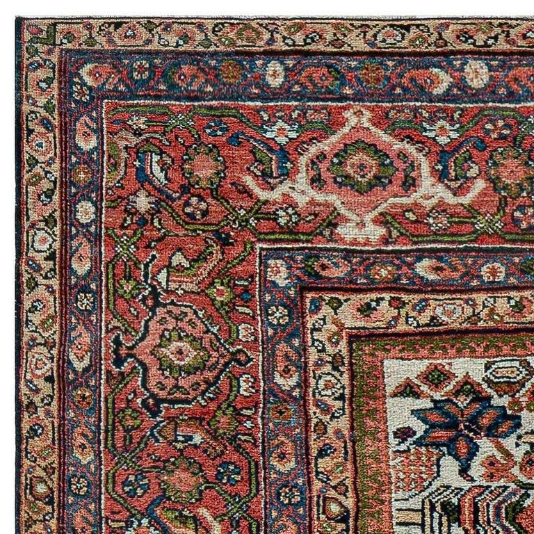 Antique Persian Sultanabad Rug 'Size Adjusted' Beige, Blue, Green, Orange, Red For Sale 1