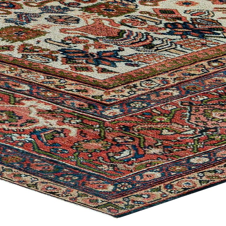Antique Persian Sultanabad Rug 'Size Adjusted' Beige, Blue, Green, Orange, Red For Sale 2