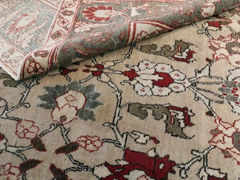Antique Persian Tabriz Carpet For Sale 5