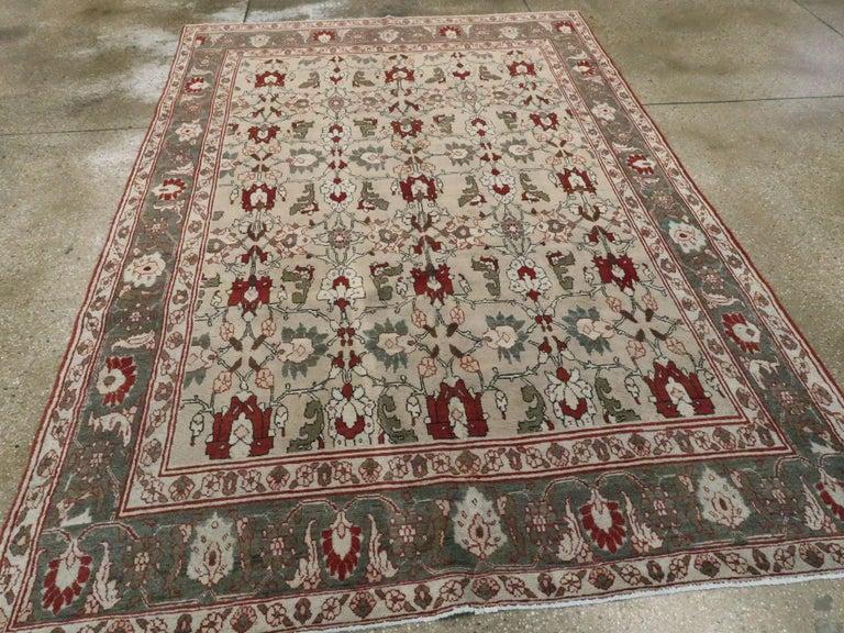 20th Century Antique Persian Tabriz Carpet For Sale