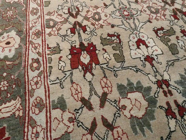 Wool Antique Persian Tabriz Carpet For Sale