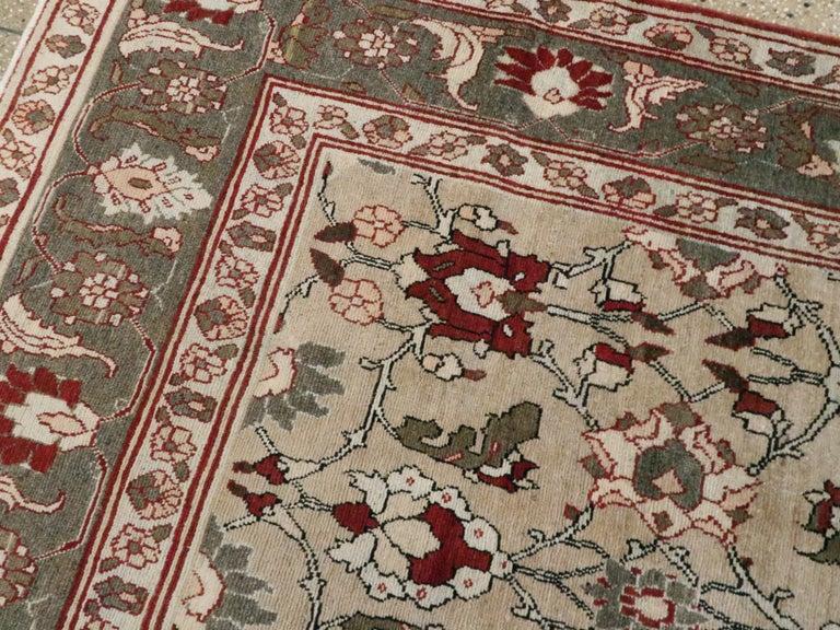 Antique Persian Tabriz Carpet For Sale 1