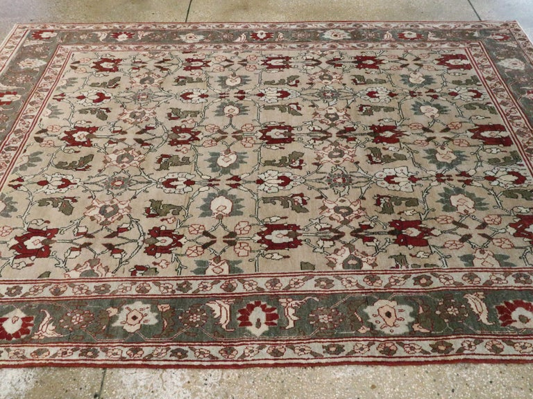 Antique Persian Tabriz Carpet For Sale 2