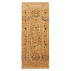 Antique Persian Tabriz Hadji Jalili Oriental Rug, in Small Runner Size