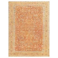 Antique Persian Tabriz Haji Jalili Carpet. Size: 9 ft 6 in x 12 ft 6 in