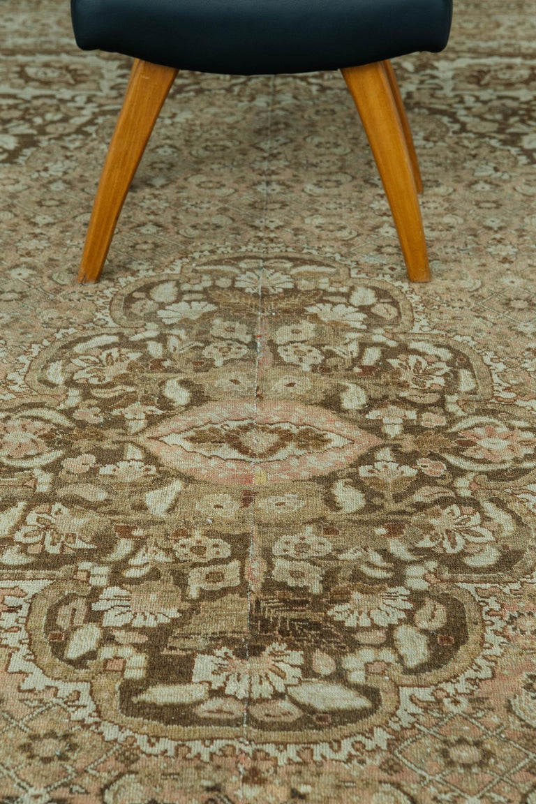 Hand-Knotted Antique Persian Tabriz Haji Jalili Style Rug For Sale