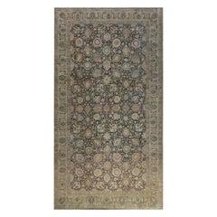 Antique Persian Tabriz Handwoven Wool Carpet