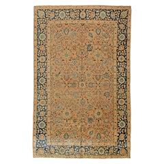 Antique Persian Tabriz Handwoven Wool Rug