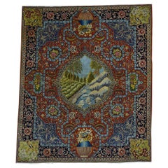 Antique Persian Tabriz Pictorial Mint Cond Oriental Rug