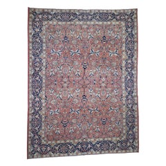 Antique Persian Tabriz Pure Wool Good Condition Some Wear Hand Knotted Oriental