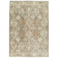 Antique Persian Tabriz Room Size Rug