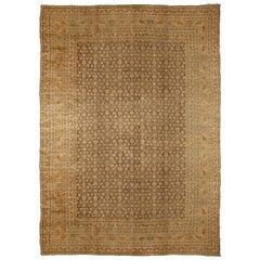 Antique Persian Tabriz Rug Carpet, circa 1900  11' x 14'10