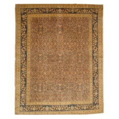 Antique Persian Tabriz Rug, circa 1900  10'10 x 13'9