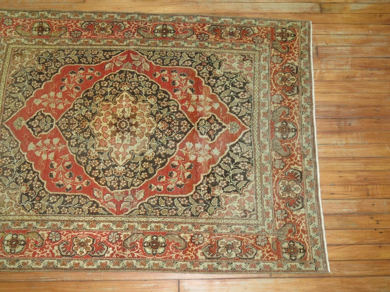 Antique Persian Tabriz Rug For Sale 3