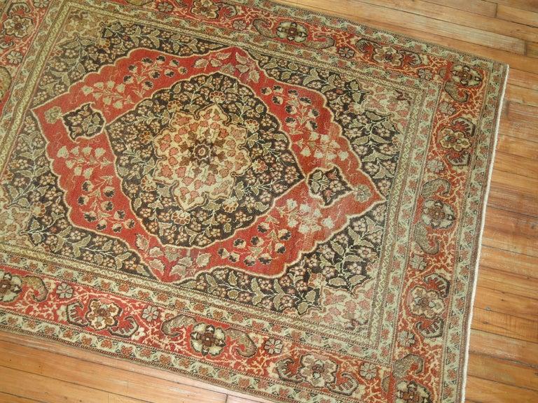 Antique Persian Tabriz Rug For Sale 4