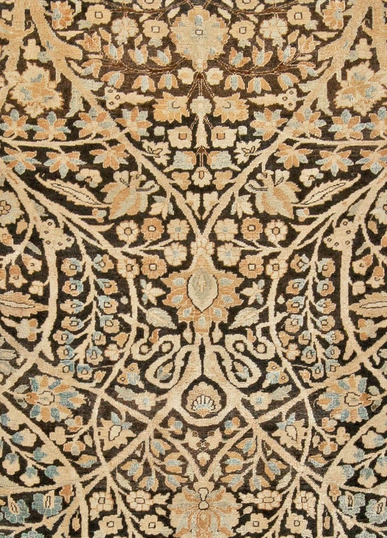Antique Persian Tabriz rug. Size: 11'8