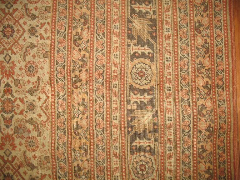 Restauration Antique Persian Tabriz Rug For Sale