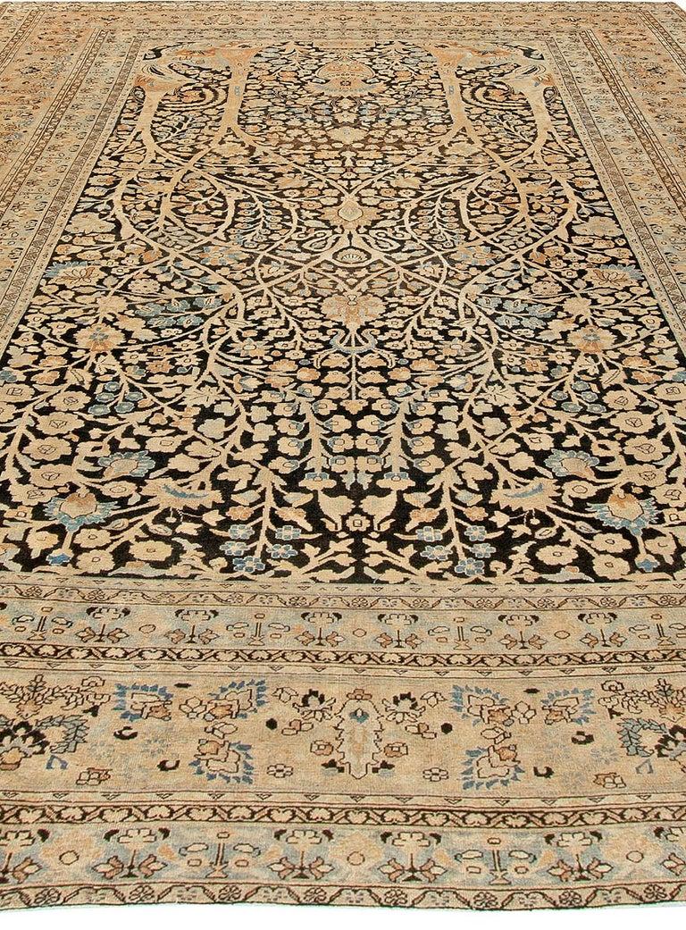 19th Century Antique Persian Tabriz Rug For Sale