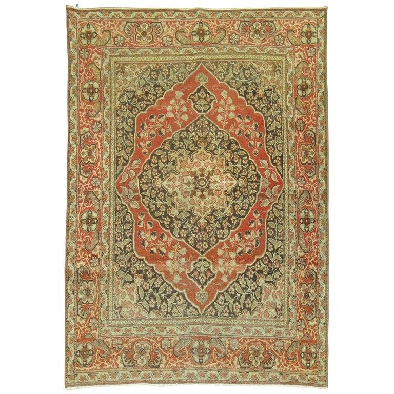 Antique Persian Tabriz Rug For Sale