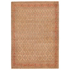 Antique Persian Tabriz Rug. Size: 8 ft. 2 in x 11 ft. 6 in
