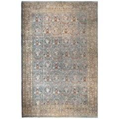 Antique Persian Tabriz Rug, Hand Knotted, Wool on Cotton, circa 1910