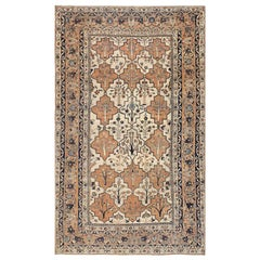 Antique Persian Tabriz Rug. Size: 5 ft 5 in x 9 ft 5 in (1.65 m x 2.87 m)