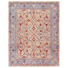 Antique Persian Tabriz Rug. Size: 7 ft 10 in x 10 ft 2 in (2.39 m x 3.1 m)