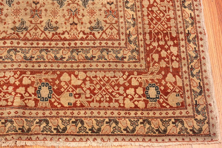 Hand-Knotted Antique Persian Tabriz Rug For Sale