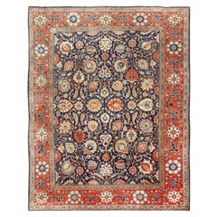 Antique Persian Tabriz Rug. Size: 9 ft 6 in x 12 ft (2.9 m x 3.66 m)