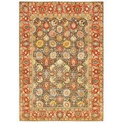 Antique Persian Tabriz Rug 'Size Adjusted'