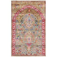 Antique Persian Tabriz Silk Rug