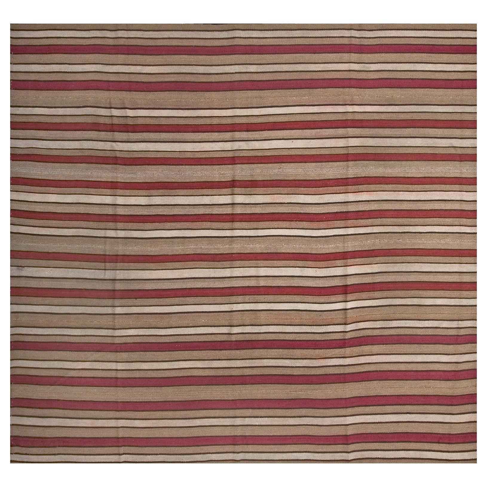 Antique Persian Tribal Kilim Rug