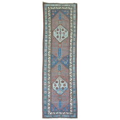 Antique Persian Tribal Serab Runner