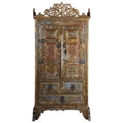 Antique Persian Wedding Cupboard, Cabinet, 18th-19th Century