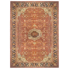 Persian Ziegler Sultanabad Oriental Carpet, Mansion Size, with Jewel Tones