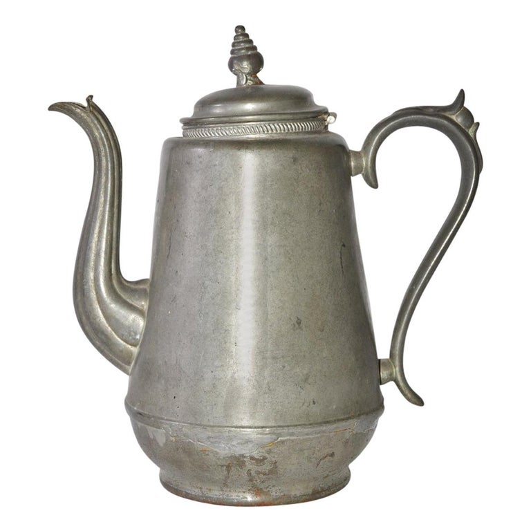Antique Pewter Coffee Pot For Sale