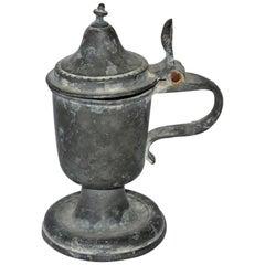 Antique Pewter Pedestal Jug